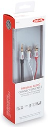Ednet audio kabel, stereo 3.5 mm, 2 x RCA, 2,5 meter