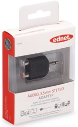 Ednet audio adapter, 1 x 3.5 mm - 2 x RCA