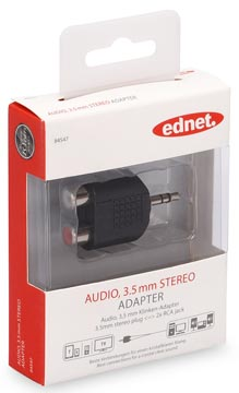 Ednet Ednet audio adapter, 1 x 3.5 mm 2 x RCA (84547)