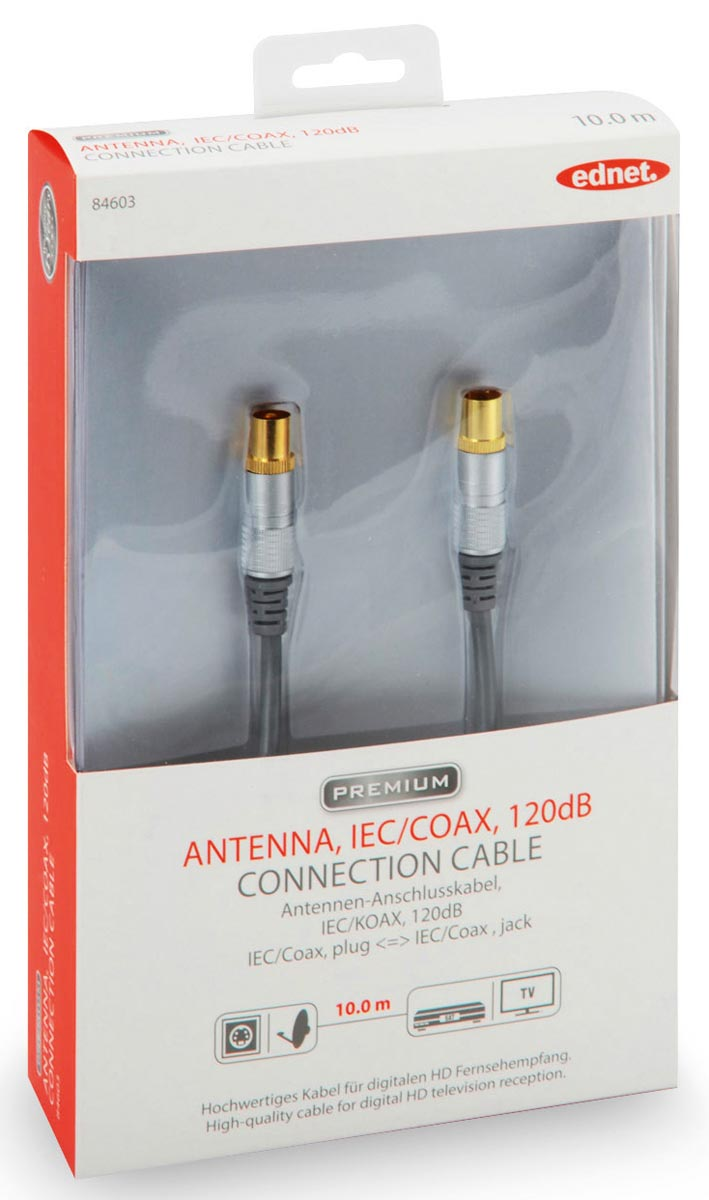 Ednet antenne kabel, 10 meter