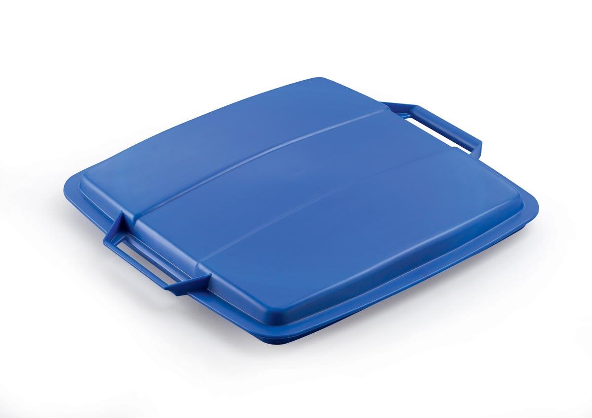 Durable deksel Durabin 90 liter, blauw