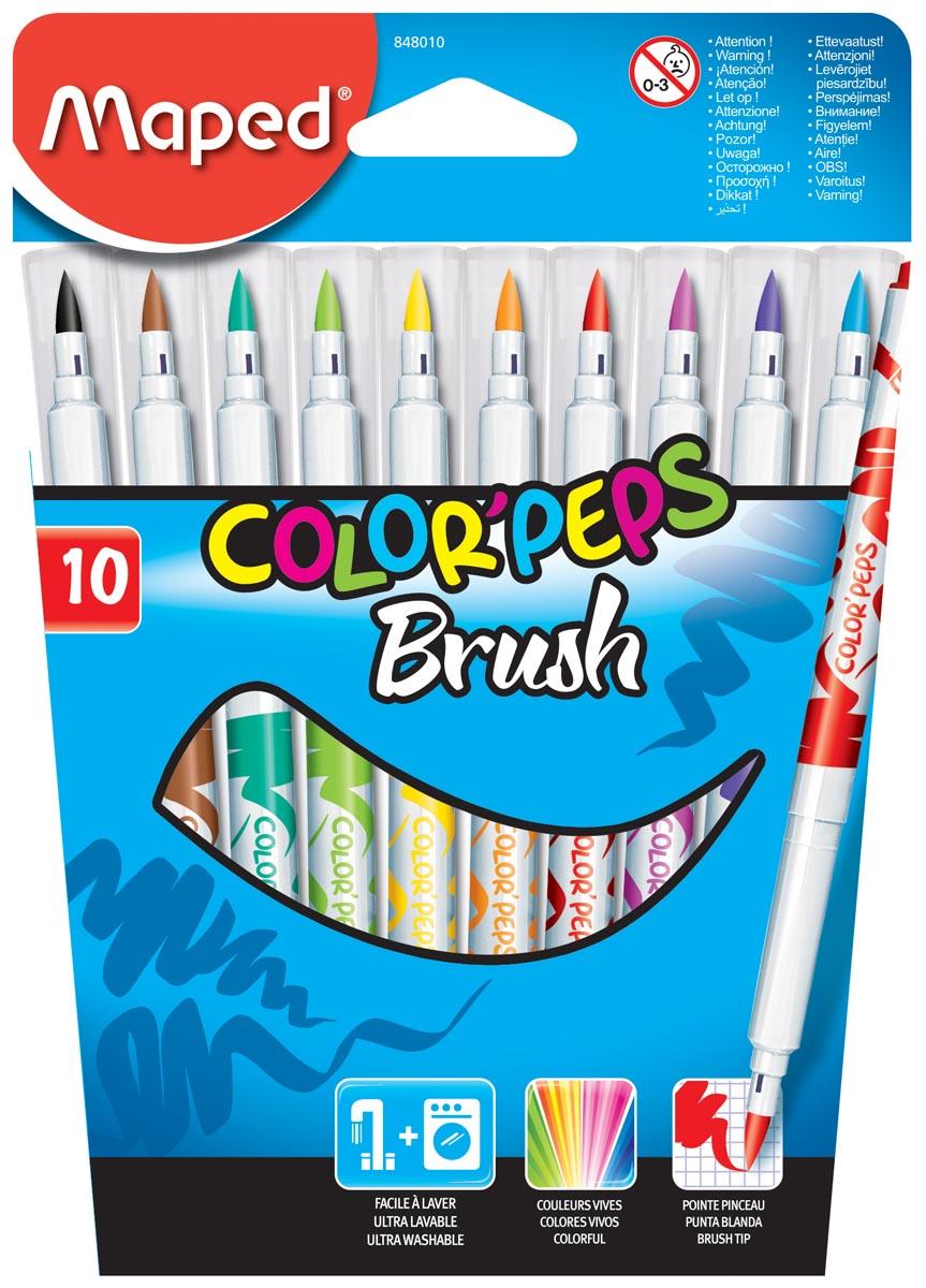 Maped penseelstift Brush, 10 stuks in een kartonnen etui