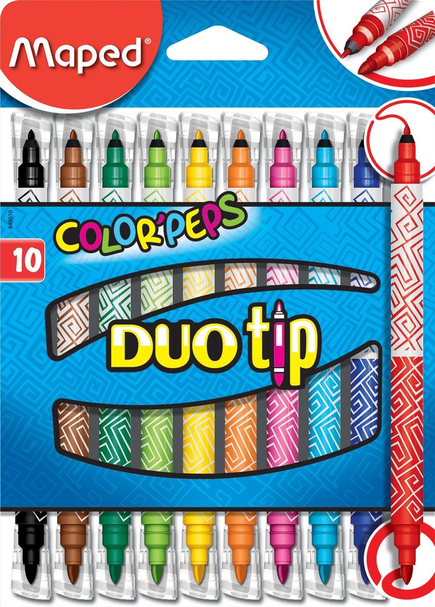 Maped viltstift Color'Peps Duo Tip, doos met 10 stuks