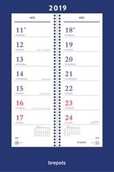 Brepols week omlegkalender op schild, 2019