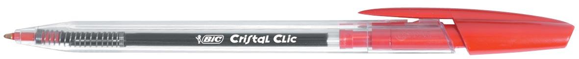 Bic balpen Cristal Clic rood