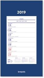 Brepols wand-week kalender op schild, 2019
