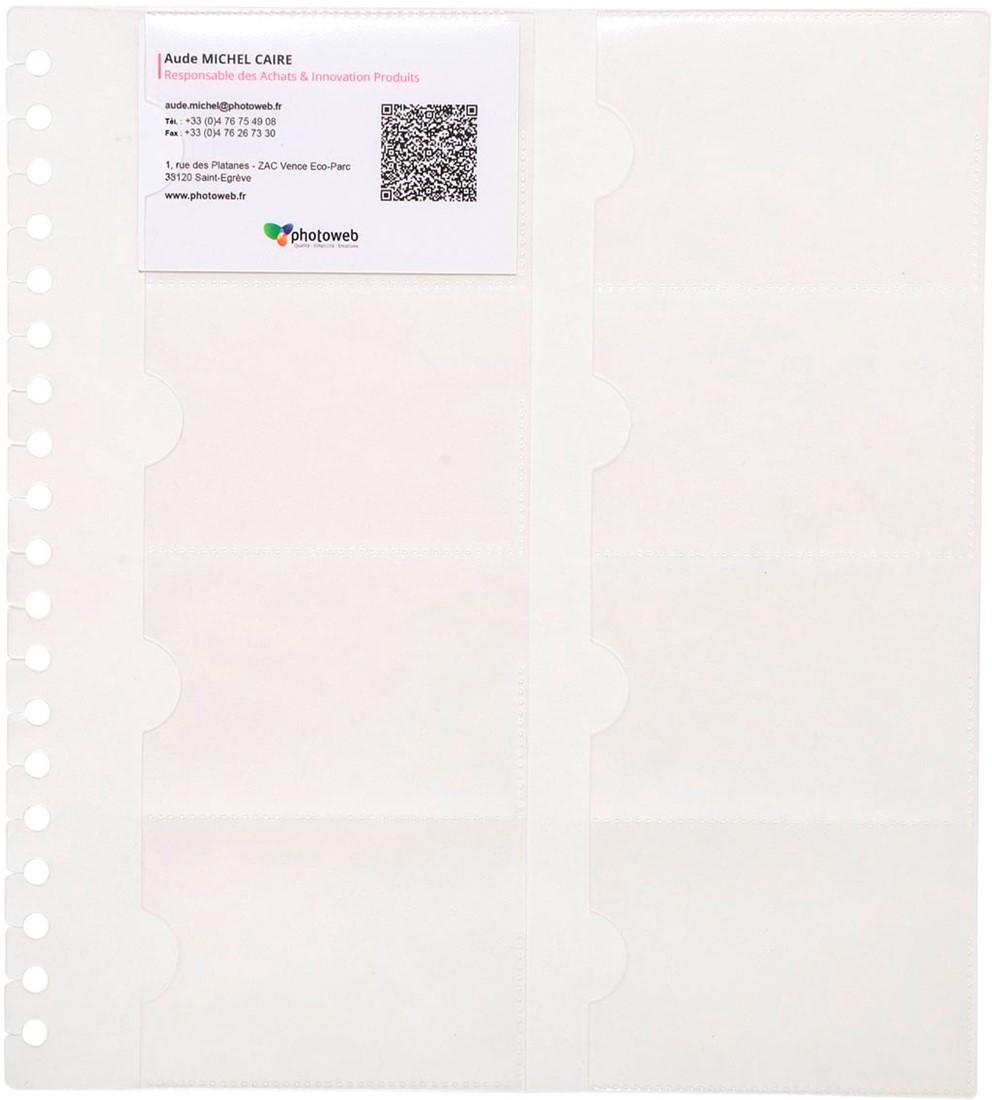 Exacompta Exactive Pochettes Cartes De Visite Pour Exacard 75234E Paquet 10 Recharges 2