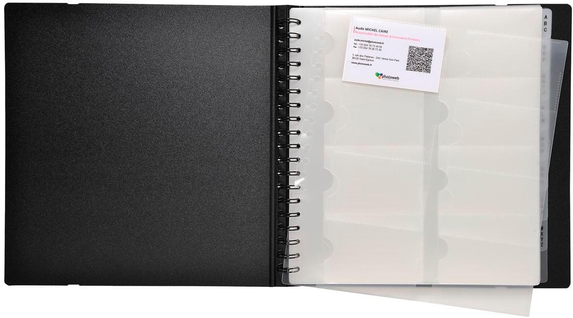 Exacompta Exactive Pochettes Cartes De Visite Pour Exacard 75234E Paquet 10 Recharges