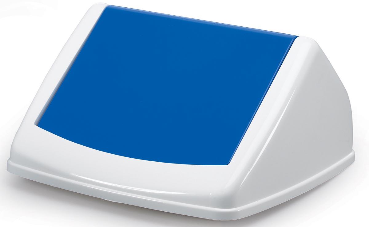 Durable deksel Durabin Fliplid 40 liter, blauw