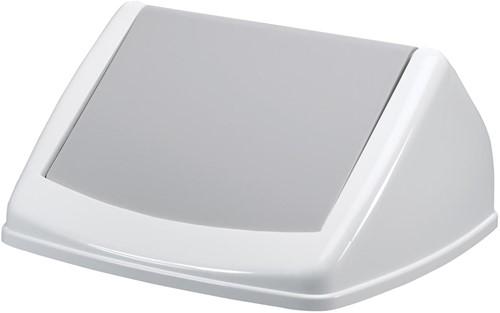 Durable deksel Durabin Fliplid 40 liter, grijs