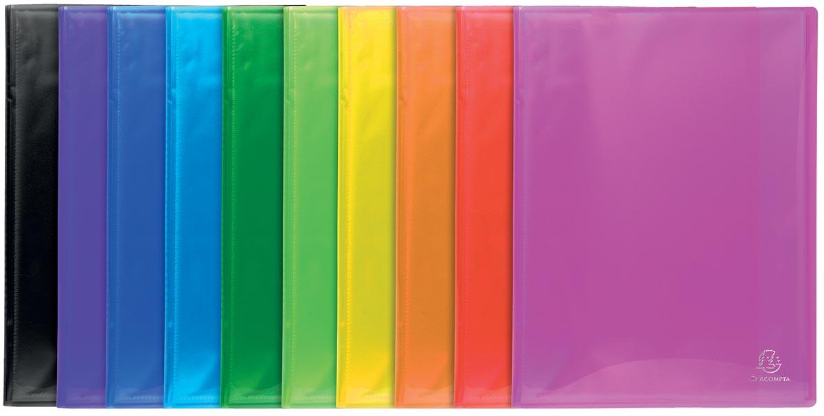 Exacompta Iderama showalbum, uit PP, met 40 tassen, geassorteerde kleuren