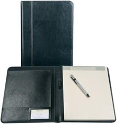 Palermo schrijfmap, ft A5,  zwart met notitieblok