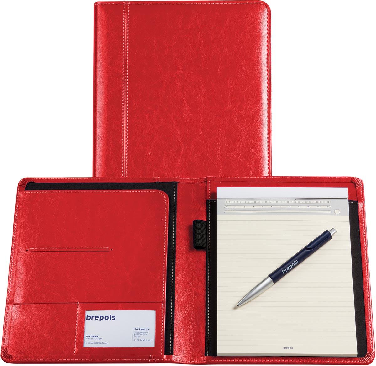 Palermo schrijfmap, ft A5, rood met notitieblok