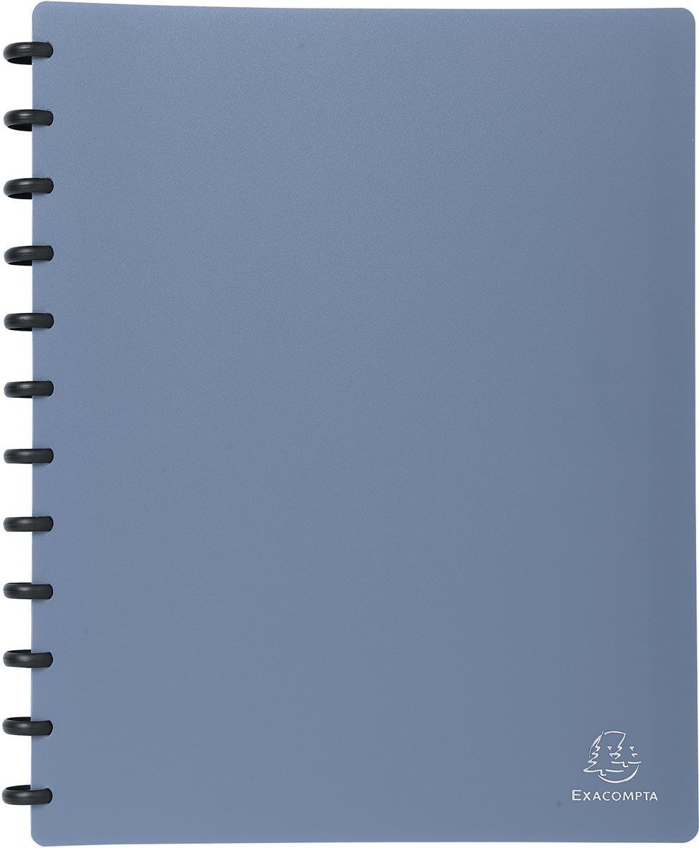 Exacompta showalbum met ringen, voor ft A4, 30 uitneembare tassen, metallic blauw