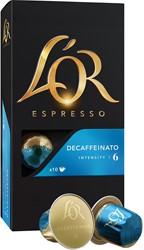Douwe Egberts koffiecapsules L'Or Intensity 6, Decaffeïnato, pak van 10 capsules