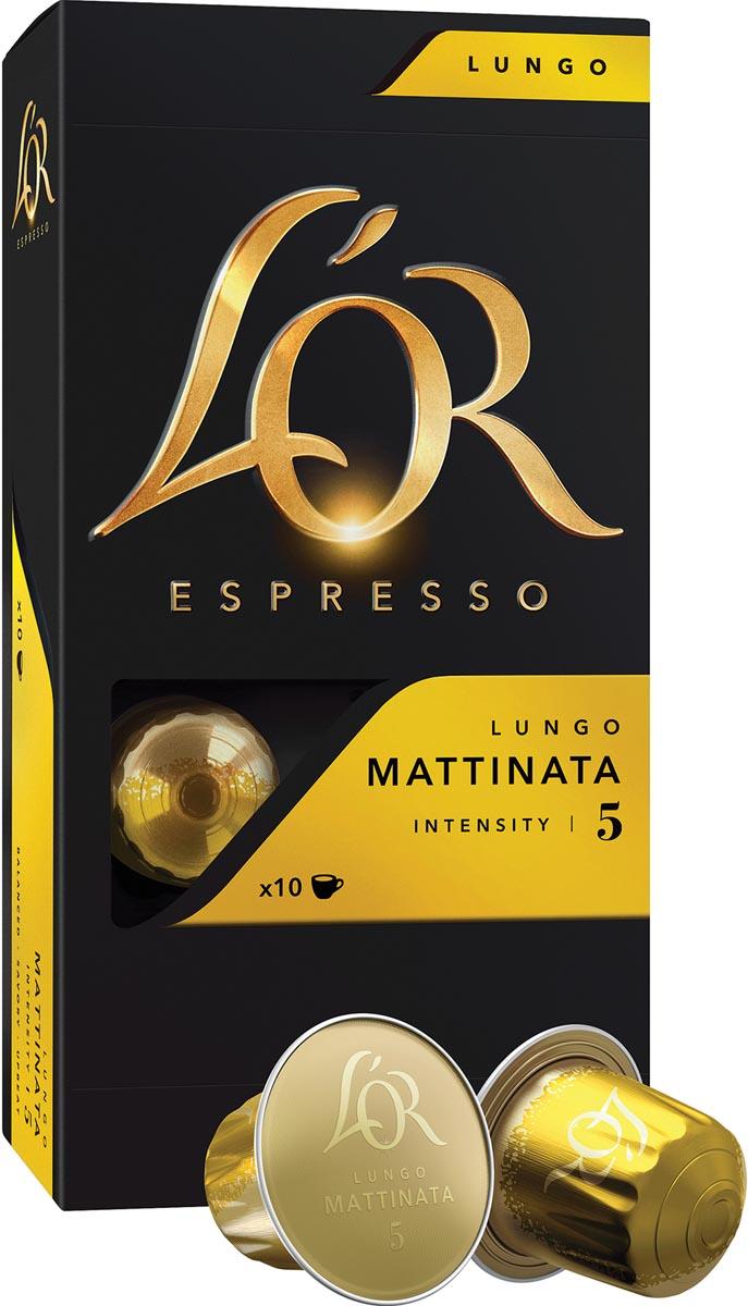 Douwe Egberts koffiecapsules L'or intensity 5, Mattinata, pak van 10 capsules