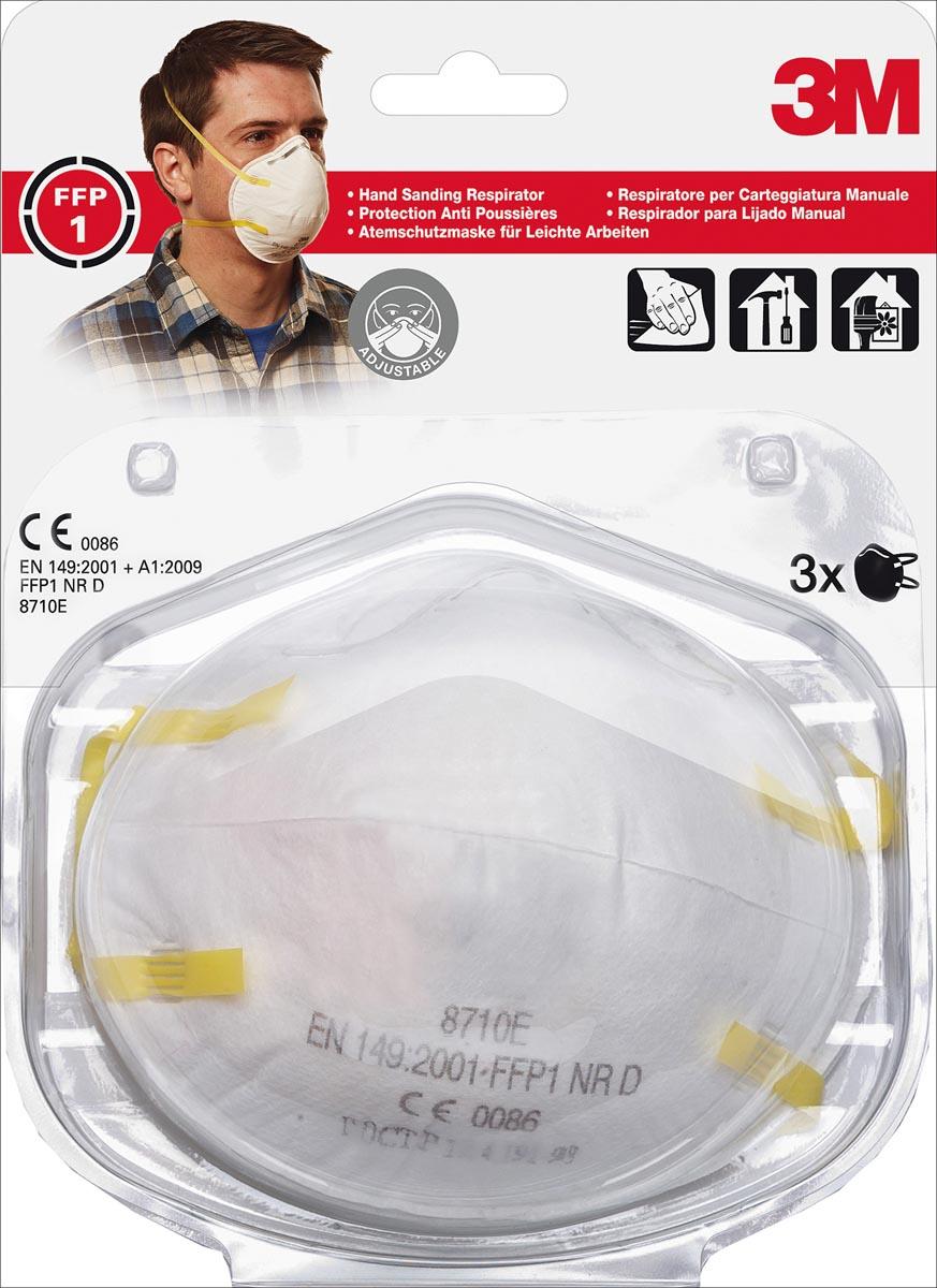 3M fijnstofmasker, beschermingsgraad FFP1, blister van 3 stuks