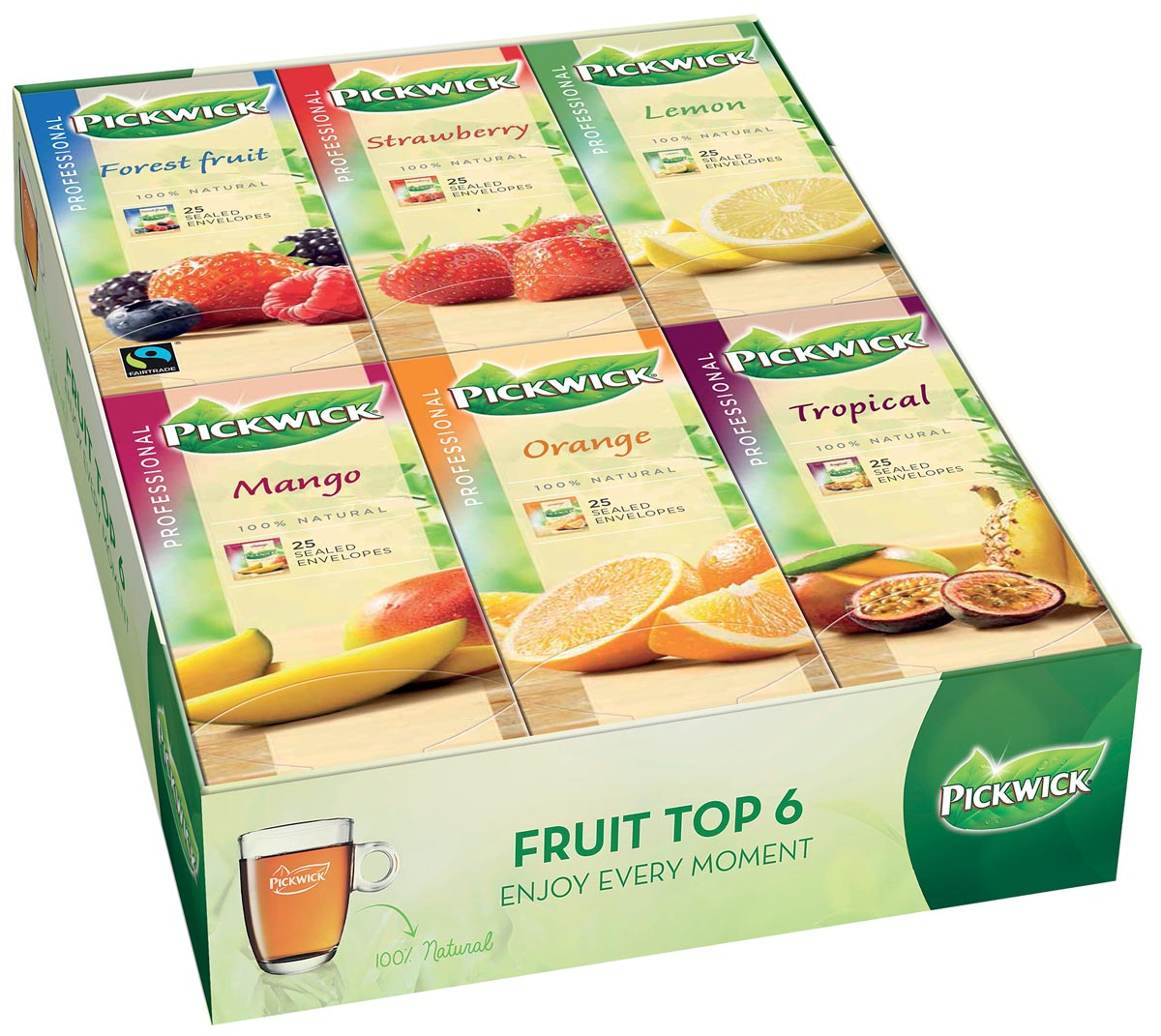 Thee Pickwick multipack original 6x25 zakjes fruit