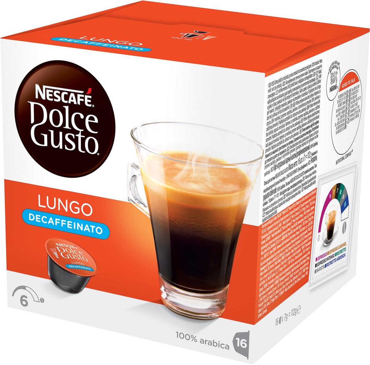 Dolce Gusto Caffe Lungo caffeinevrij