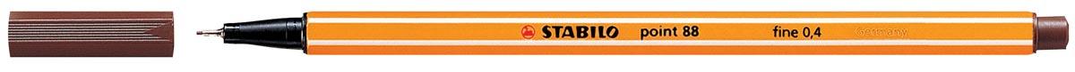 STABILO point 88 fineliner, bruin