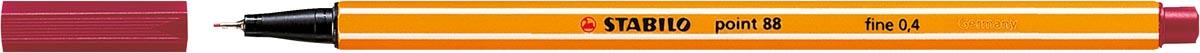 STABILO point 88 fineliner, karmijnrood
