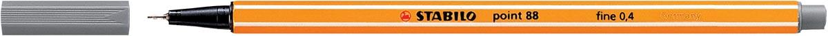 STABILO point 88 fineliner, donkergrijs