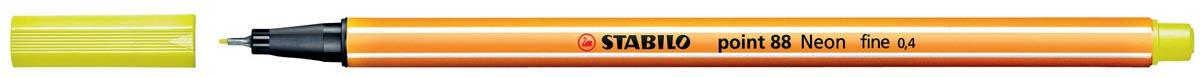 STABILO point 88 fineliner, fluogeel