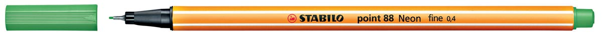 STABILO point 88 fineliner, fluogroen