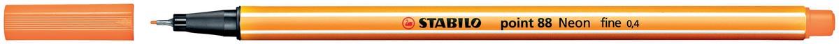STABILO point 88 fineliner, fluo-oranje