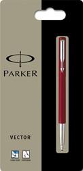 Parker Collectie Vector Standard roller, rood, op blister
