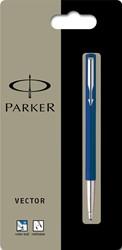 Parker Collectie Vector Standard roller, blauw, op blister