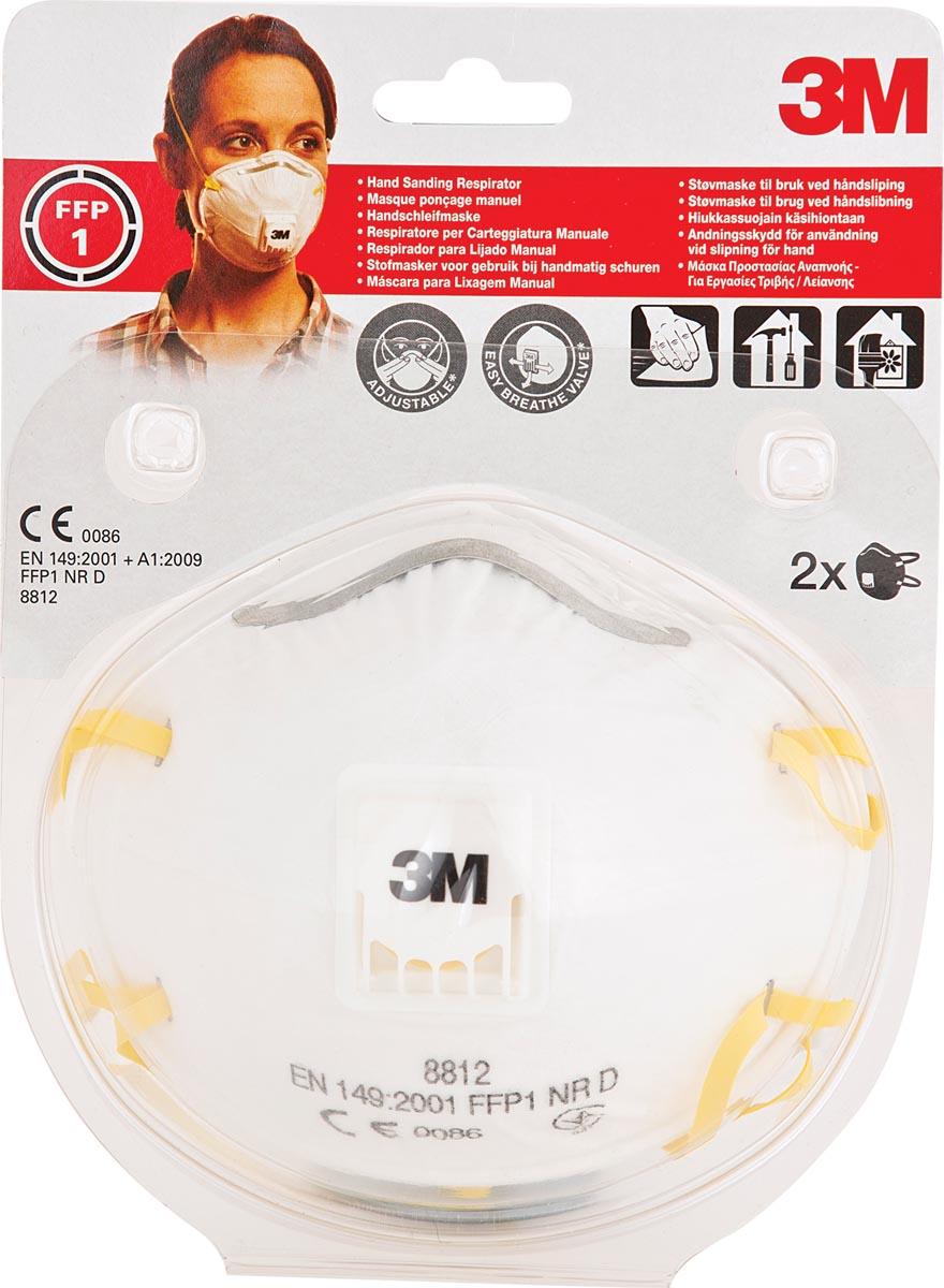 3M fijnstofmasker met uitademventiel, beschermingsgraad FFP1, blister van 2 stuks-2