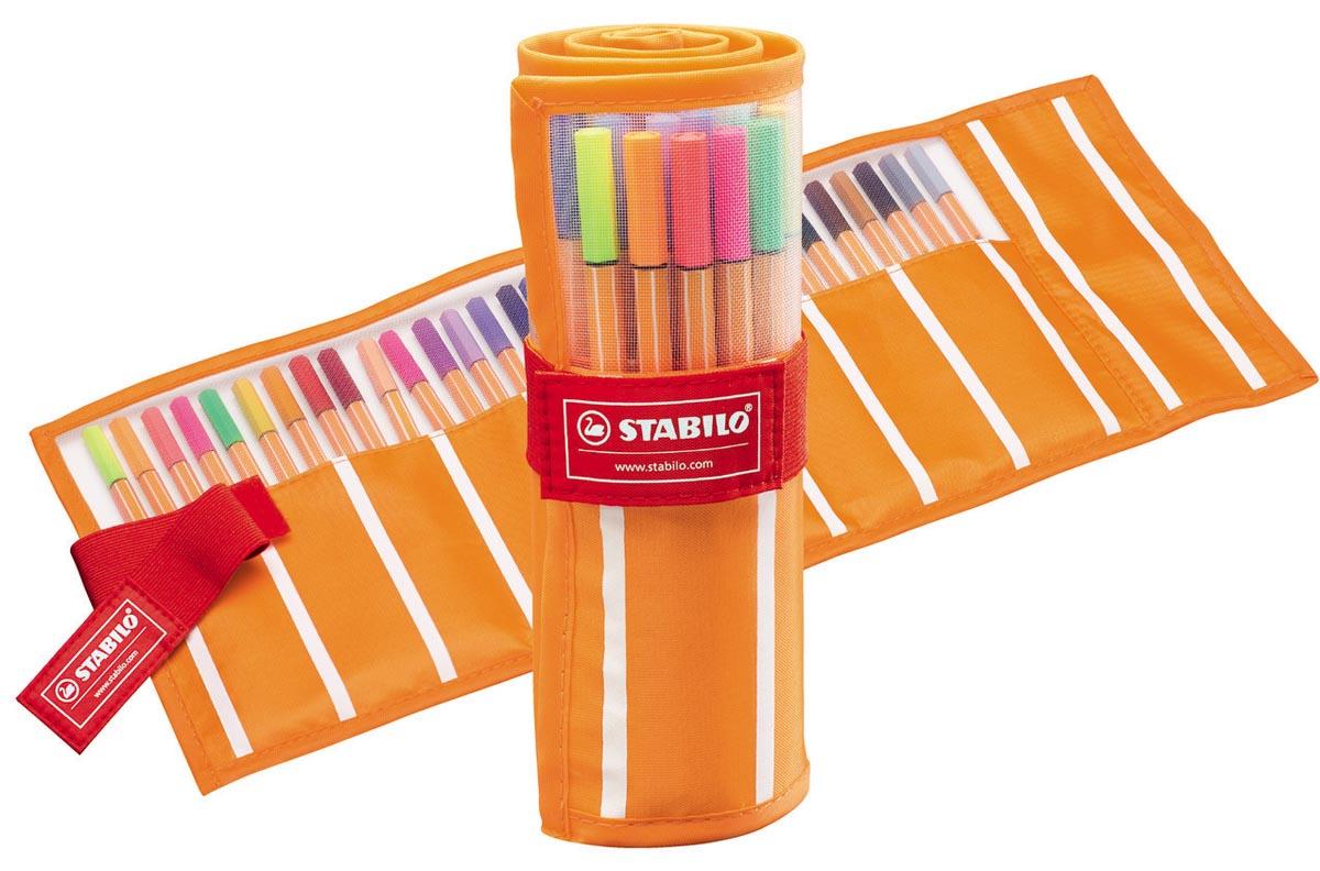 STABILO point 88 fineliner, rollerset in geassorteerde kleuren