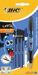 Bic vulpen Easy Clic Decor, blister met 1 stuk, 6 vullingen en 1 inktwisser
