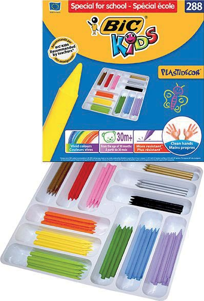 Bic Kids waskrijt Plastidecor doos met 288 stuks (classpack)