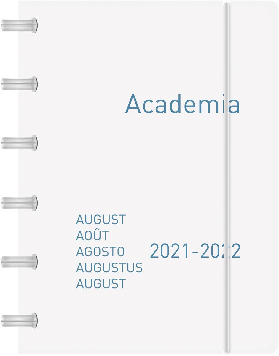 Adoc schoolagenda Academia ADOC PP 800 micron, color, geassorteerde kleuren, 2021-2022