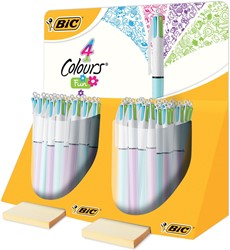 Bic balpen 4 Colours Fashion, display met 40 stuks