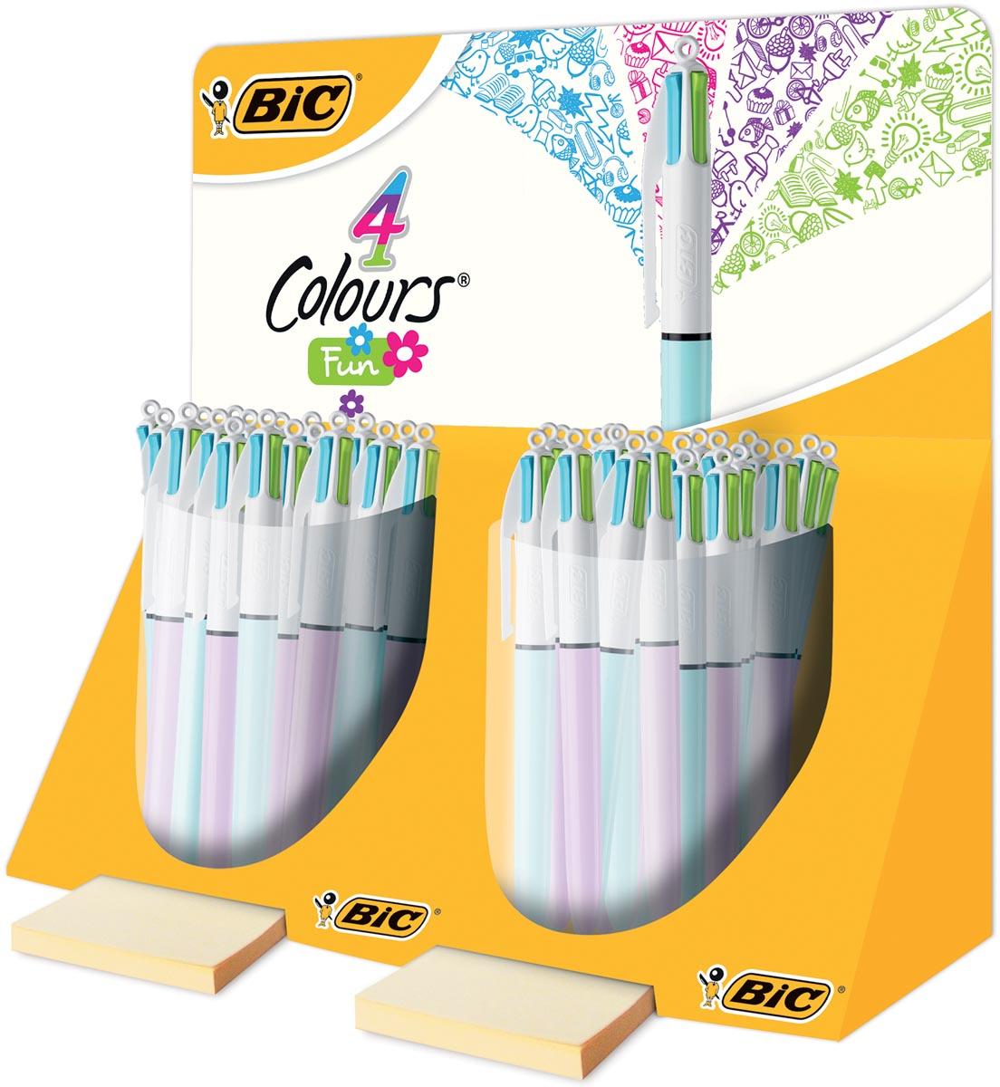 Afbeelding van Bic balpen 4 Colours Fashion, display met 40 stuks