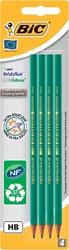 Bic potlood Evolution 650 HB, met gom, blister van 4 stuks