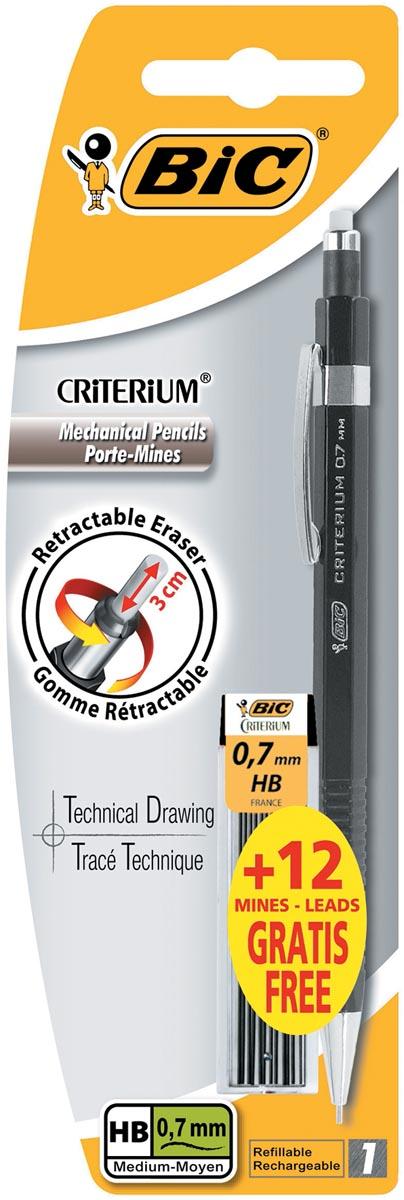 Bic vulpotlood Criterium 0,7 mm, blister met 1 stuk en 12 vullingen gratis