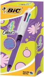 Bic balpen 4 Colours Grip Fashion, doos met 12 stuks