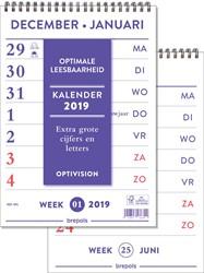 Brepols Optivision kalender Nederlandstalig, 2019