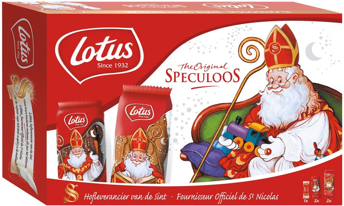 Lotus speculaaskoekjes, Sinterklaasdoosje, 180g, doos van 5 pakjes