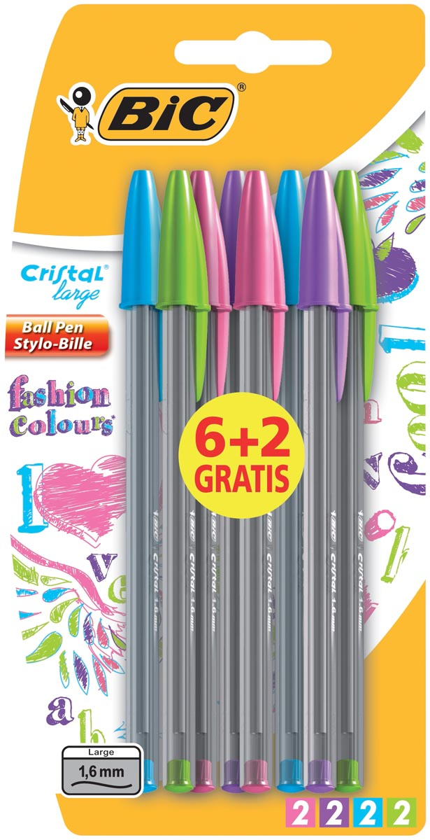 Bic Balpen Cristal Fashion