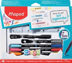"Maped ""How to agenda""-set, 11-delige ophangdoos"