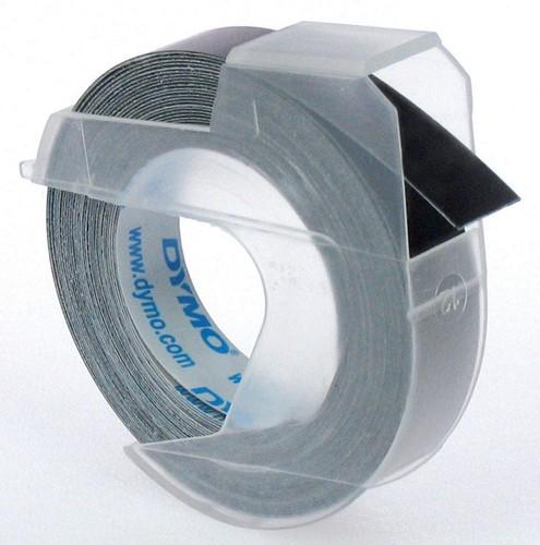 Dymo tape 9 mm voor lettertang Omega, zwart