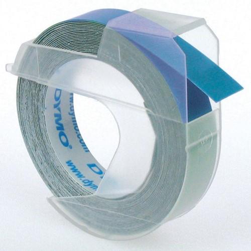 Dymo tape 9 mm voor lettertang Omega, blauw