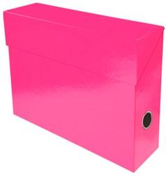 Exacompta Iderama opbergdoos,ft A4, 9 cm, roze