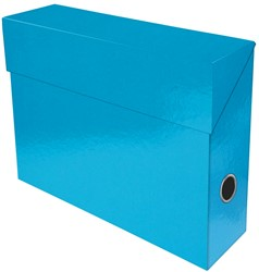 Exacompta Iderama opbergdoos ,ft A4, 9 cm, lichtblauw