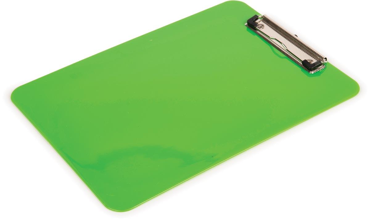 Pergamy klemplaat, voor ft A4, uit PP, groen